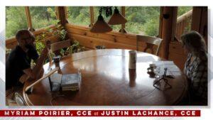 Pause-café entre monteurs-ses – Myriam Poirier, CCE et Justin Lachance, CCE