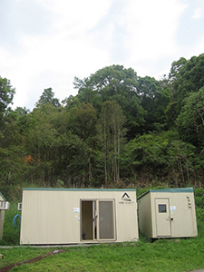 Jonathan Dowler editing suite in the jungle