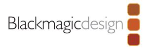 Black Magic Design Logo Sponsor